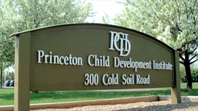 Sign at entrance to the Princeton Child Development Institute.