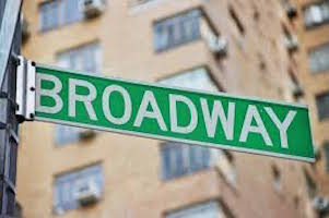 Broadway street sign.