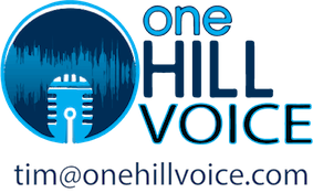 One Hill Voice logo with email tim@onehillvoice.com